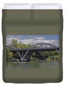 Caveman Bridge With Text Duvet Cover