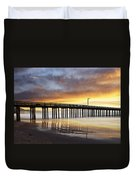 Cayucos Pier Reflected Duvet Cover