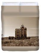 Cedar Island Lighthouse Duvet Cover