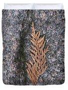 Cedar On Granite Duvet Cover