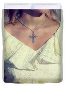 Celctic Cross Duvet Cover by Joana Kruse