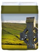 Celtic Cross In A Cemetery Duvet Cover