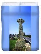 Celtic High Cross At Drumcliff Duvet Cover