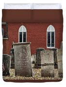 Cemetery And Church Duvet Cover