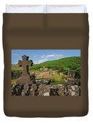 Cemetery In France Duvet Cover