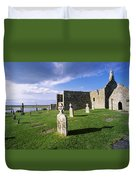 Cemetery In Front Of A Monastery Duvet Cover