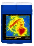 Center Of The Galaxy Radio Image Duvet Cover