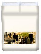 Central Park And The New York City Skyline From Above Duvet Cover