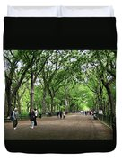 Central Park Arbor Walk Spring Duvet Cover