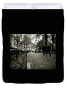 Central Park Bench Duvet Cover
