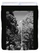 Central Park Flag In Black And White Duvet Cover