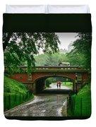 Central Park In The Rain Duvet Cover