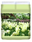 Central Park Tulips Duvet Cover