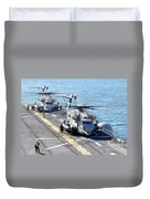 Ch-53e Super Stallion Helicopters Duvet Cover