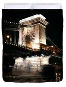 Chain Bridge At Night Duvet Cover