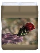 Chain Cholla Cactus Bloom Duvet Cover