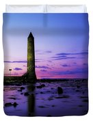 Chaine Memorial Tower, Larne Harbour Duvet Cover