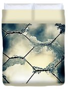 Chainlink Fence Duvet Cover