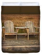 Wooden Chairs Duvet Cover