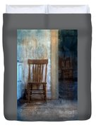 Chairs In Rundown House Duvet Cover