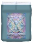 Chalice Of Vorticspheres Of Color Shining Forth Over Tapestry Duvet Cover
