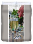 Champagne At The Beach Duvet Cover