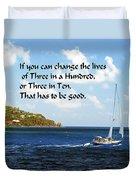 Change A Life Duvet Cover
