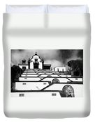 Chapel In Azores Duvet Cover