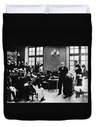 Charcot Demonstrating Hysterical Case Duvet Cover