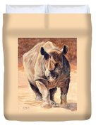 Charging Rhino Duvet Cover