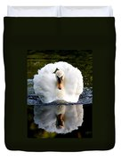 Charging Swan Duvet Cover