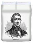 Charles Goodyear /n(1800-1860). American Inventor. Line Engraving, 19th Century Duvet Cover