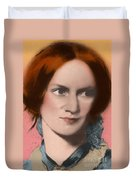 Charlotte Bronte, English Author Duvet Cover