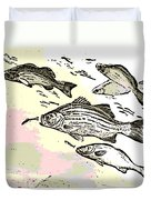 Chasing Lunch Duvet Cover
