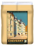 Chateau De Cheverny Duvet Cover by Georgia Fowler