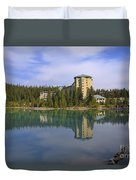Chateau Lake Louise Duvet Cover