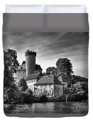 Chateau On The Lake At Annecy Duvet Cover