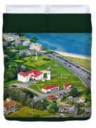 Chatham Lighthouse Cape Cod Massachusetts Duvet Cover