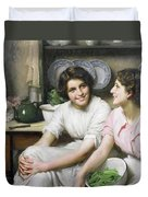 Chatterboxes Duvet Cover by Thomas Benjamin Kennington