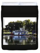Chautauqua Belle On Lake Chautauqua Duvet Cover