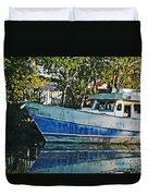 Chauvin La Blue Bayou Boat Duvet Cover