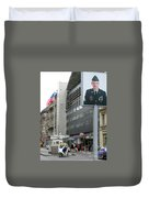 Check Point Charlie Berlin Germany Duvet Cover