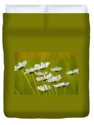 Cheerful Daisy Wildflowers Blowing In The Wind Duvet Cover