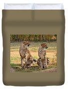 Cheetah Chat 1 Duvet Cover