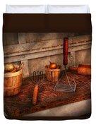 Chef - Food - Equipment For Making Latkes Duvet Cover