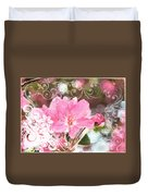 Cherry Blossom Art With Decorations Duvet Cover