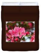 Cherry Blossom Greeting Card Blank With Decorations Duvet Cover