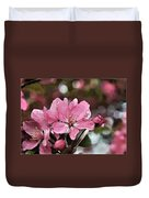 Cherry Blossom Photo Art And Blank Greeting Card Duvet Cover