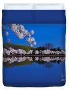 Cherry Blossoms And The Tidal Basin Duvet Cover