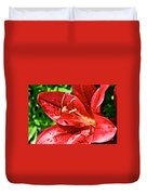 Cherry Red Lily Duvet Cover